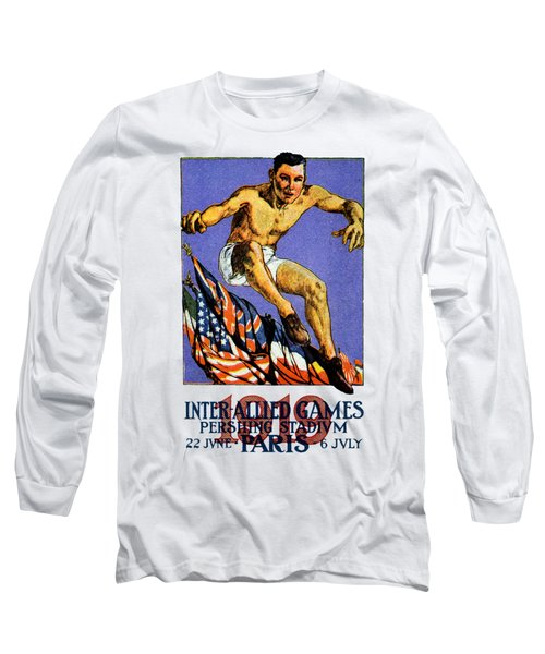 1919 Allied Games Poster Long Sleeve T-Shirt