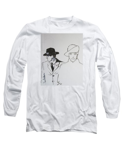 1920s Film Noir - I Think Were Being Followed Long Sleeve T-Shirt
