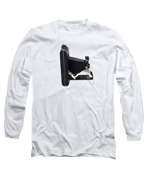 Long Sleeve T-Shirt featuring the photograph 1921 Kodak A 116 Folding Bellows Camera  by Bill Cannon