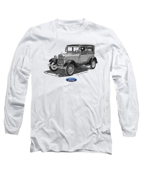 Model A Ford 2 Door Sedan Long Sleeve T-Shirt