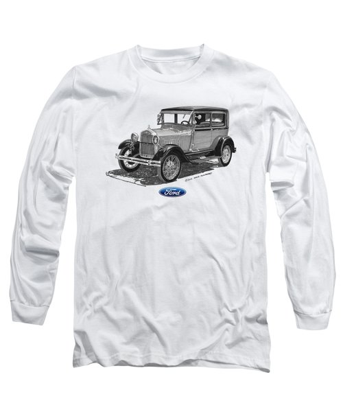 Model A Ford 2 Door Sedan Long Sleeve T-Shirt
