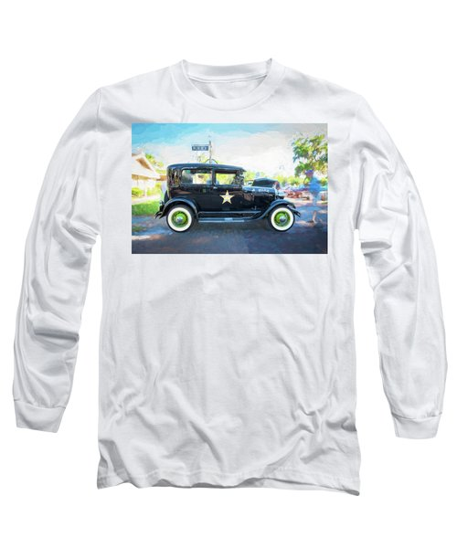 Long Sleeve T-Shirt featuring the photograph 1929 Ford Model A Tudor Police Sedan  by Rich Franco