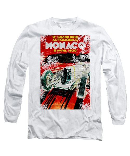 1930 Monaco Grand Prix Poster Long Sleeve T-Shirt