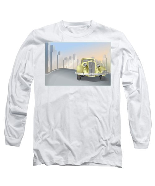 1930's Plymouth Sedan Long Sleeve T-Shirt by Marty Garland