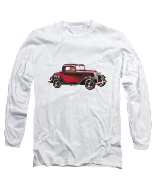 1932 Ford Deluxe Long Sleeve T-Shirt by John Haldane