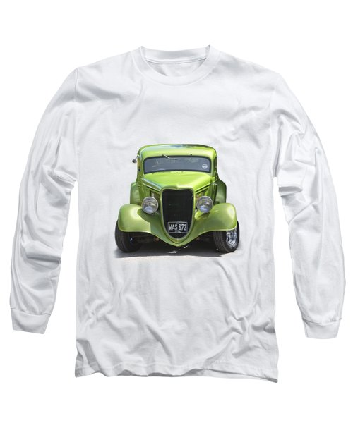 1934 Ford Street Hot Rod On A Transparent Background Long Sleeve T-Shirt by Terri Waters