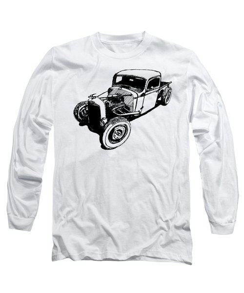 1937 Chevy Bobber Truck Hot Rod Tee Long Sleeve T-Shirt