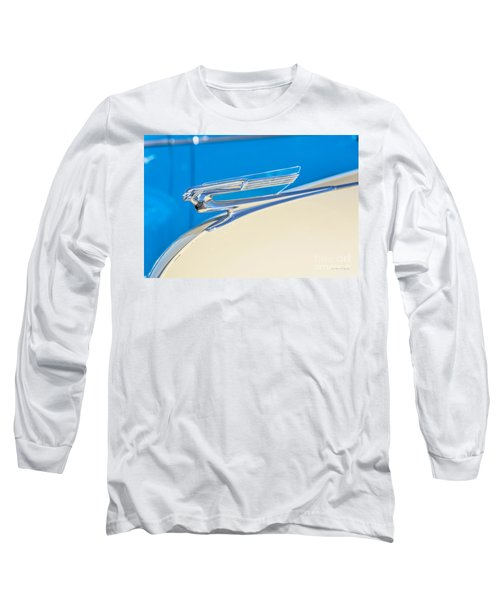 Long Sleeve T-Shirt featuring the photograph 1941 Chevy Hood Ornament by Aloha Art