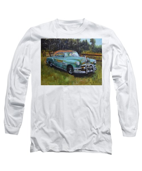 Long Sleeve T-Shirt featuring the painting 1952 Pontiac Chieftain  by Sandra Nardone