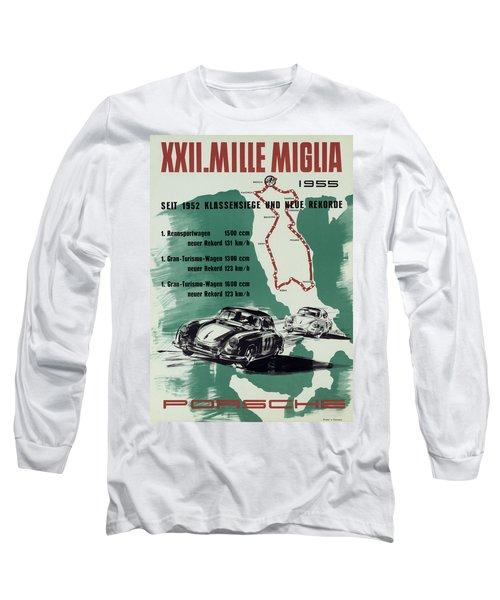 1955 Mille Miglia Porsche Poster Long Sleeve T-Shirt
