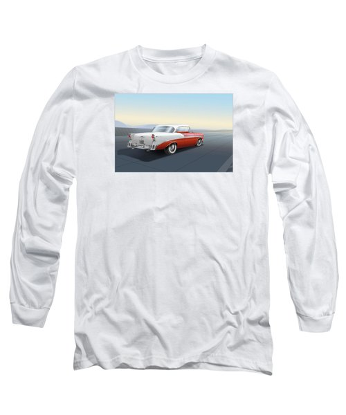 1956 Chevrolet Bel Air Long Sleeve T-Shirt by Marty Garland