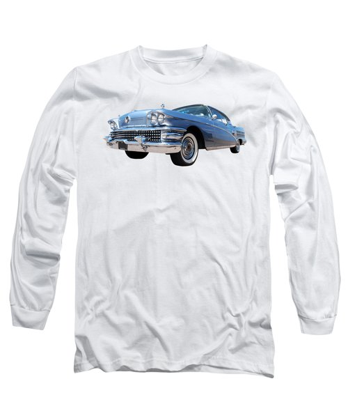 1958 Buick Roadmaster 75 In A Blue Mood Long Sleeve T-Shirt