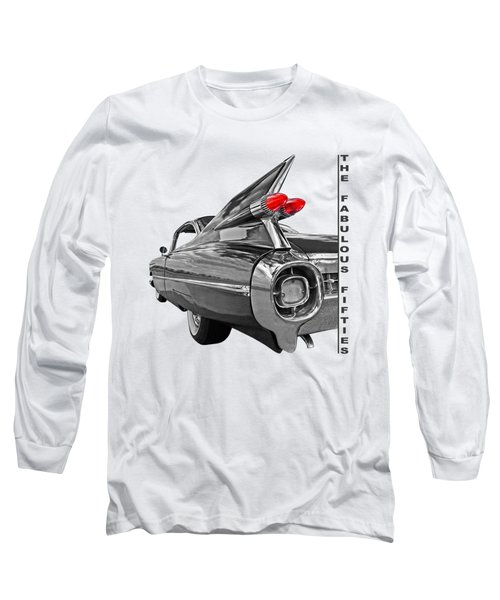 1959 Cadillac Tail Fins Long Sleeve T-Shirt by Gill Billington
