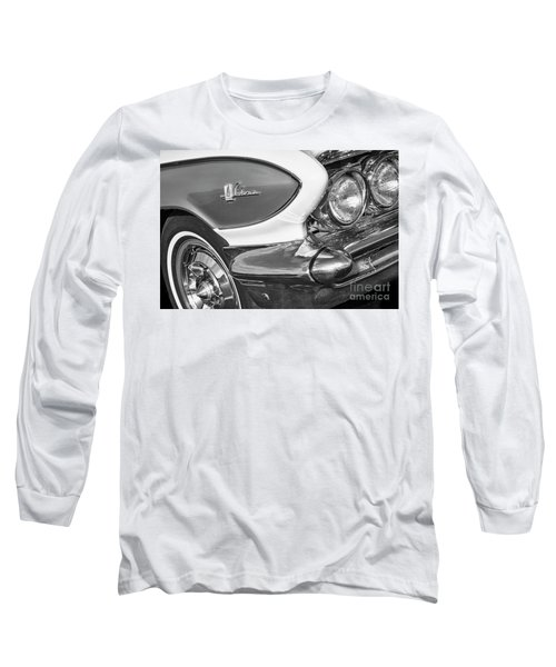Long Sleeve T-Shirt featuring the photograph 1961 Le Sabre Monotone by Dennis Hedberg