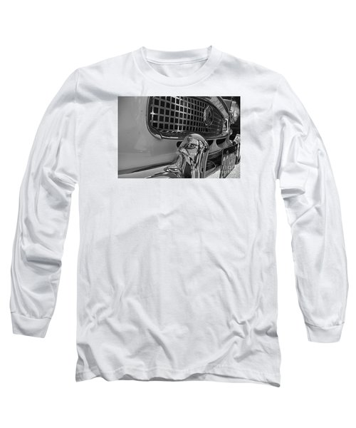 1961 Nash Metropolitan Bw Pov Long Sleeve T-Shirt by John S