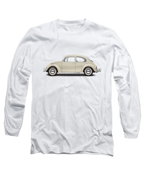 1965 Volkswagen 1200 Deluxe Sedan - Panama Beige Long Sleeve T-Shirt by Ed Jackson