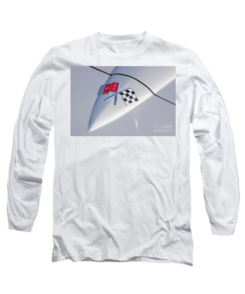 Long Sleeve T-Shirt featuring the photograph 1966 Corvette Hood Ornament  by Aloha Art