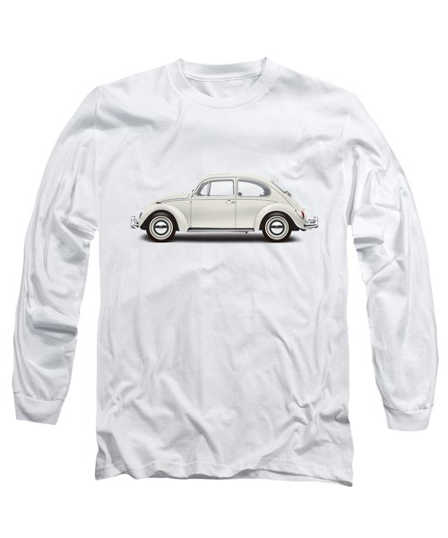 1966 Volkswagen 1300 Sedan - Pearl White Long Sleeve T-Shirt by Ed Jackson