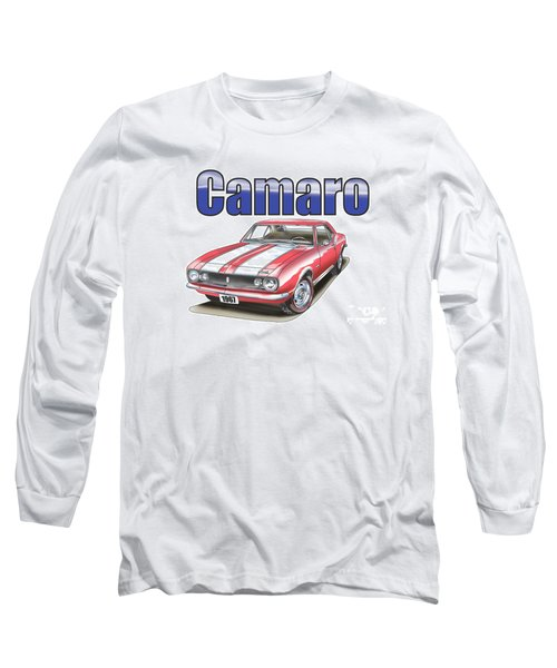 Long Sleeve T-Shirt featuring the digital art 1967 Camaro by Thomas J Herring