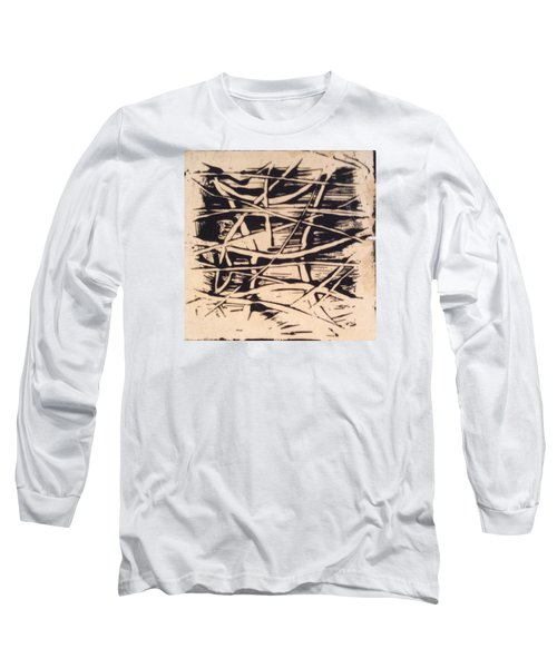 Long Sleeve T-Shirt featuring the painting 1967 by Erika Chamberlin