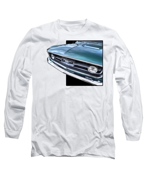 1967 Mustang Grille Long Sleeve T-Shirt by Gill Billington