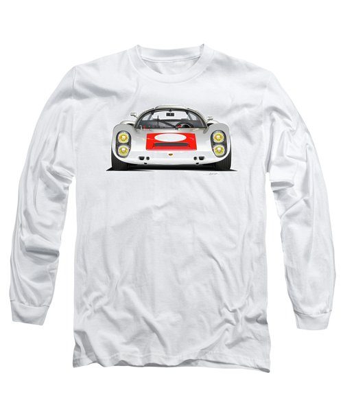 1967 Porsche 910 Illustration Long Sleeve T-Shirt