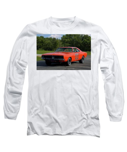1969 Dodge Charger Rt Long Sleeve T-Shirt by Tim McCullough