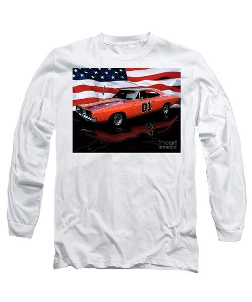 Long Sleeve T-Shirt featuring the photograph 1969 General Lee by Peter Piatt