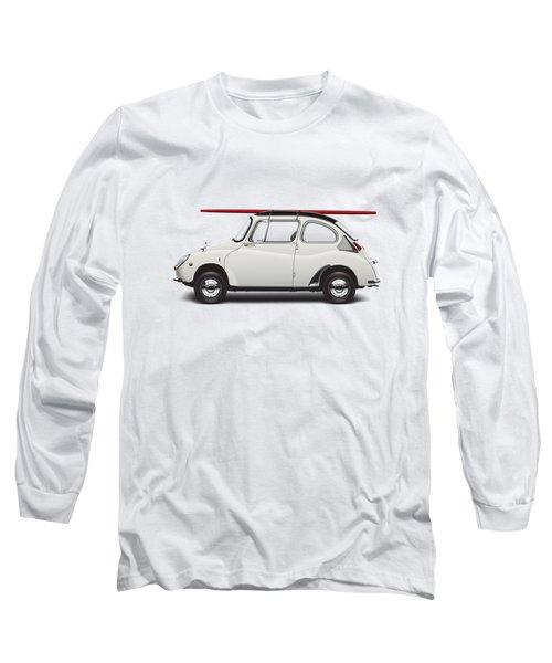 1969 Subaru 360 Young Ss - Creme Long Sleeve T-Shirt