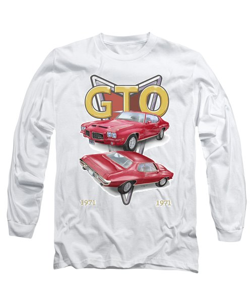 1971 Pontiac Gto Long Sleeve T-Shirt by Thomas J Herring