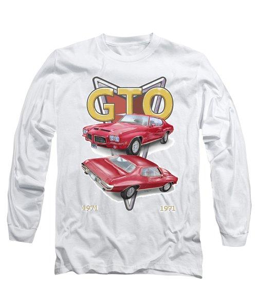 1971 Pontiac Gto Long Sleeve T-Shirt