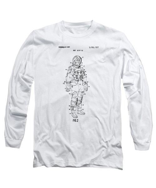 1973 Astronaut Space Suit Patent Artwork - Vintage Long Sleeve T-Shirt