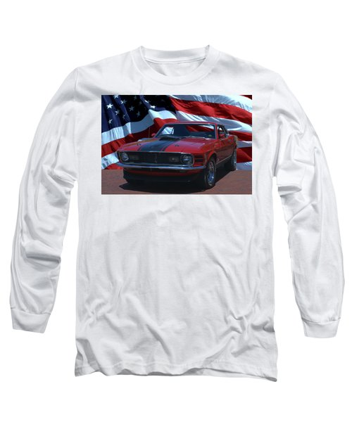 1970 Mustang Mach I Long Sleeve T-Shirt by Tim McCullough