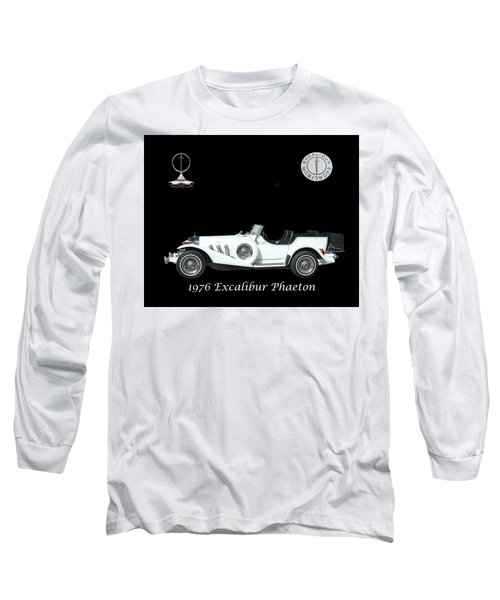 Long Sleeve T-Shirt featuring the mixed media 1976 Excalibur Poster by Jack Pumphrey