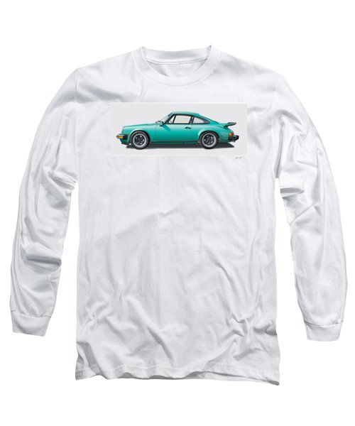 1976 Porsche Euro Carrera 2.7 Illustration Long Sleeve T-Shirt