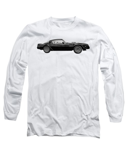 1978 Trans Am In Black And White Long Sleeve T-Shirt