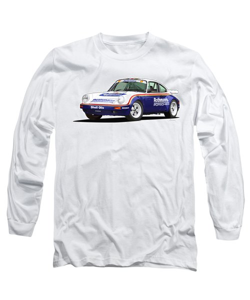 1984 Porsche 911 Sc Rs Illustration Long Sleeve T-Shirt