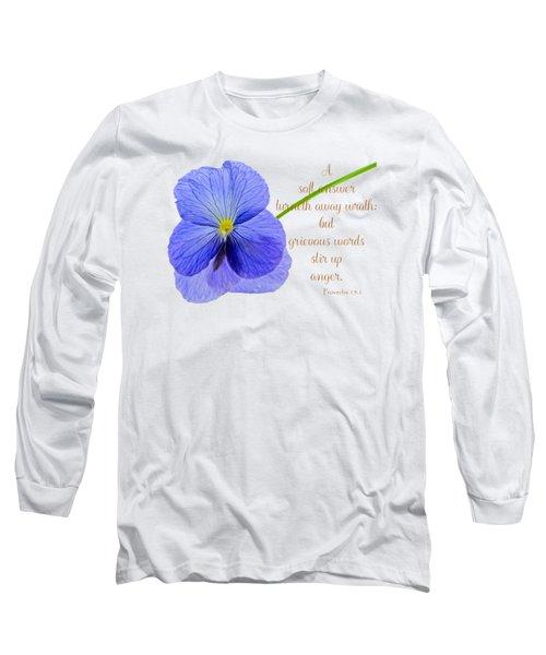 A Soft Answer Long Sleeve T-Shirt
