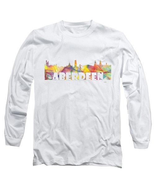 Aberdeen Scotland Skyline Long Sleeve T-Shirt