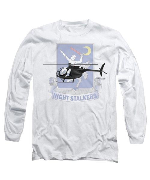 Long Sleeve T-Shirt featuring the digital art Ah-6j Little Bird Night Stalkers by Arthur Eggers