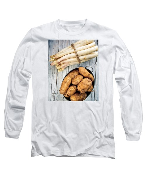 Asparagus Long Sleeve T-Shirt by Nailia Schwarz