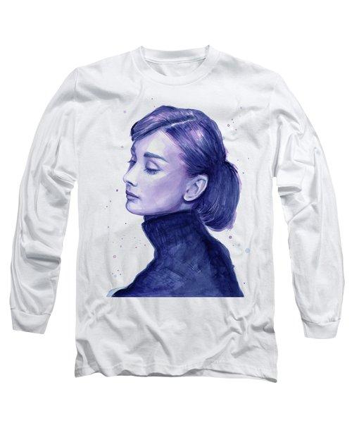 Audrey Hepburn Portrait Long Sleeve T-Shirt