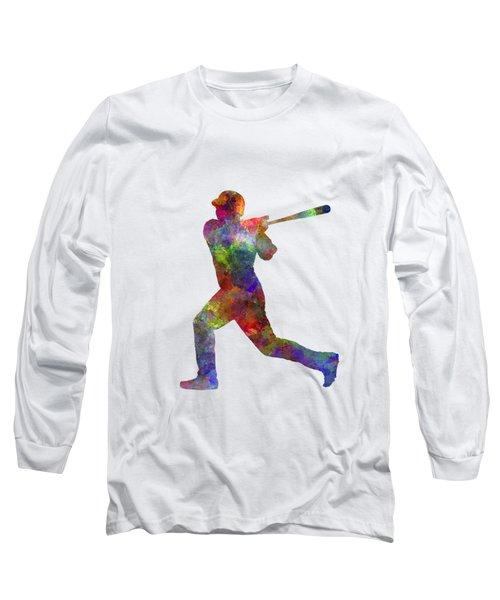 Baseball Player Hitting A Ball Long Sleeve T-Shirt