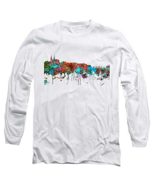 Basle Switzerland Skyline Long Sleeve T-Shirt