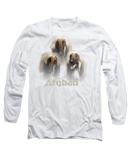 Beautiful Afghan Hound  Long Sleeve T-Shirt