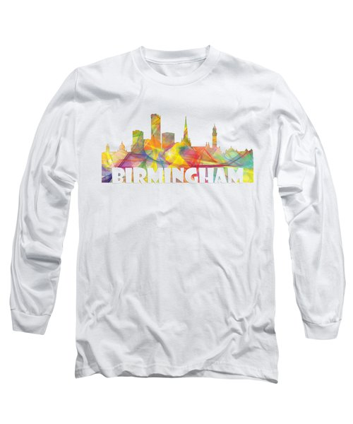 Birmingham England Skyline Long Sleeve T-Shirt