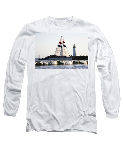 2 Boats Approach Long Sleeve T-Shirt by Marilyn Hunt