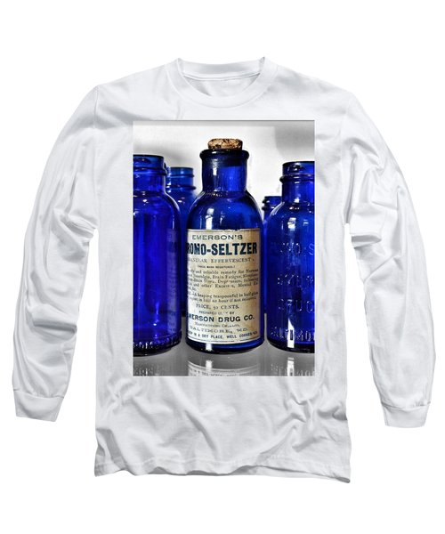 Bromo Seltzer Vintage Glass Bottles Collection Long Sleeve T-Shirt