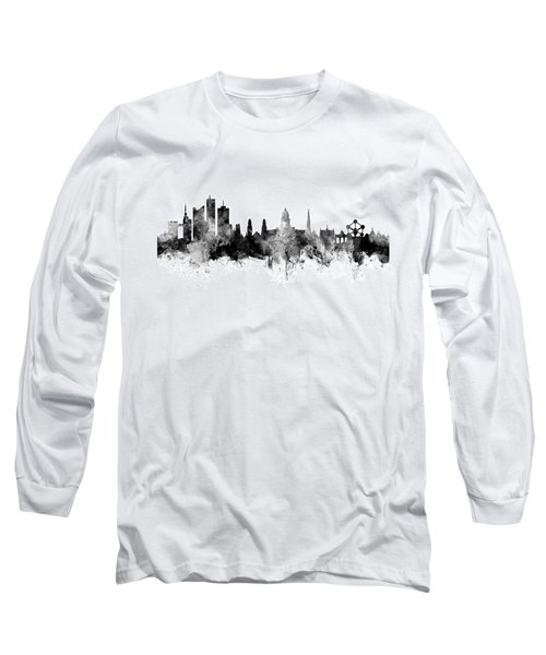 Brussels Belgium Skyline Long Sleeve T-Shirt