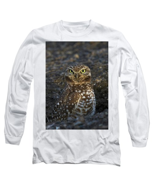 Burrowing Owl Long Sleeve T-Shirt by Doug Herr